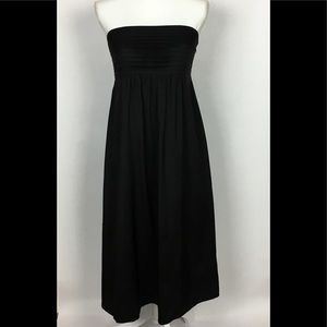 Banana Republic Dress 100% Silk Strapless Black